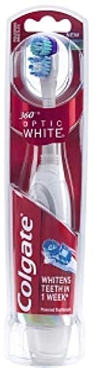 スカーフ熟す誤Colgate 360オプティックホワイトバッテリ駆動歯ブラシ、ソフト1 Eaは(5パック)