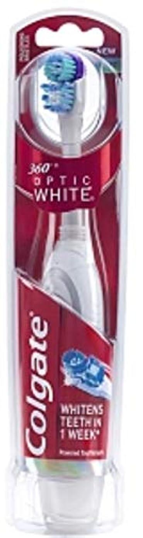 追放するピストン人差し指Colgate 360オプティックホワイトバッテリ駆動歯ブラシ、ソフト1 Eaは(5パック)
