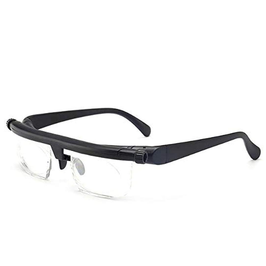 MENGJIA -6.00D?+ 3.00Dの調節可能な強度のレンズリーディング近視メガネアイウェア可変焦点ビジョン