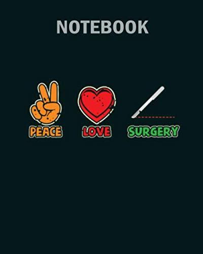 [画像:Notebook: peace love surgery surgical technologist1 - 50 sheets, 100 pages - 8 x 10 inches]