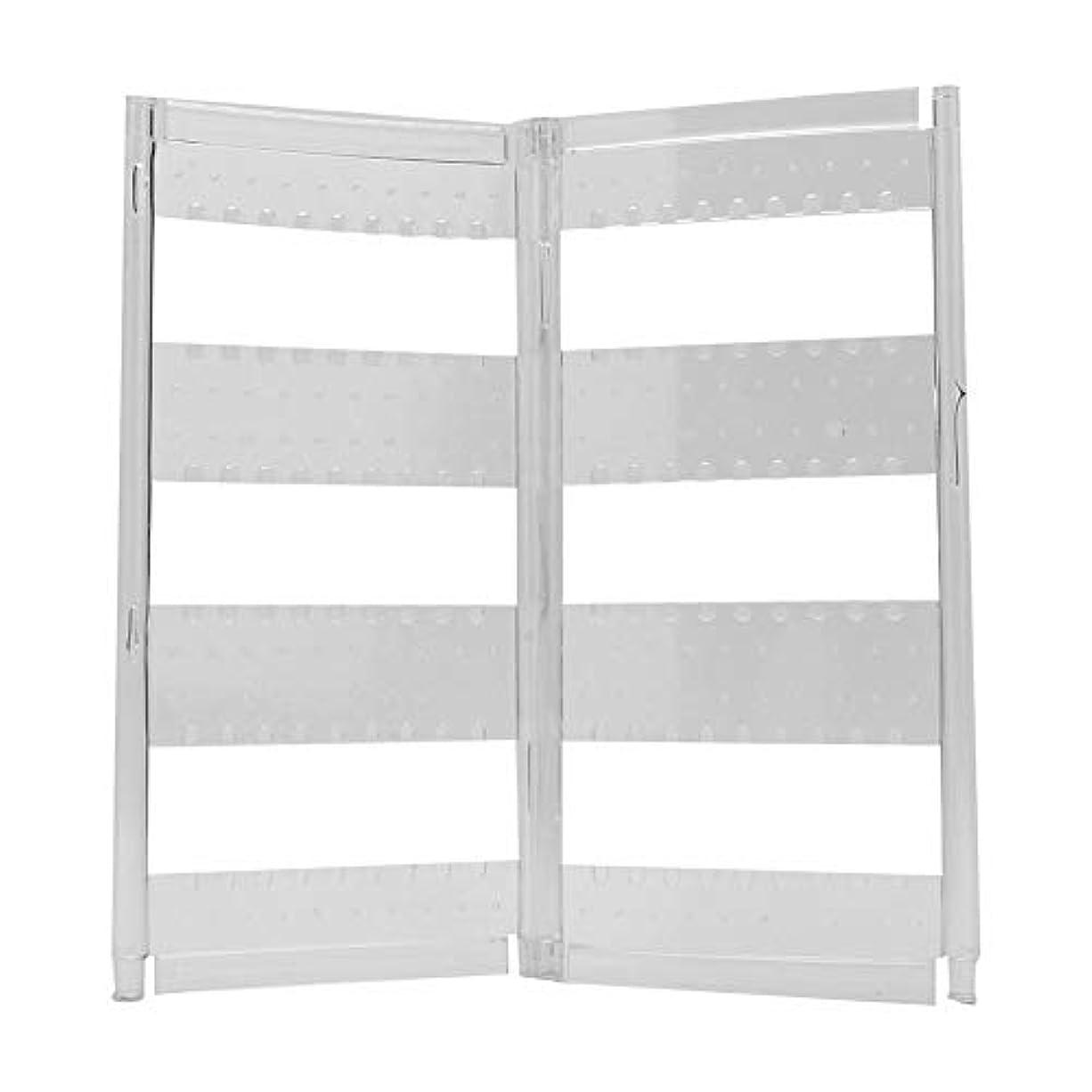 シマウマロッジ窓2種類のジュエリーボックスイヤリング - 折りたたみ式、ドアディスプレイスタンドジュエリー収納ボックス - イヤリング用ネックレスブレスレット(2つのパネル)