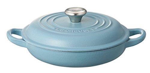 ルクルーゼ ビュッフェ キャセロール ホーロー 鍋 IH 対応 18cm テラスブルー 21032-18-673