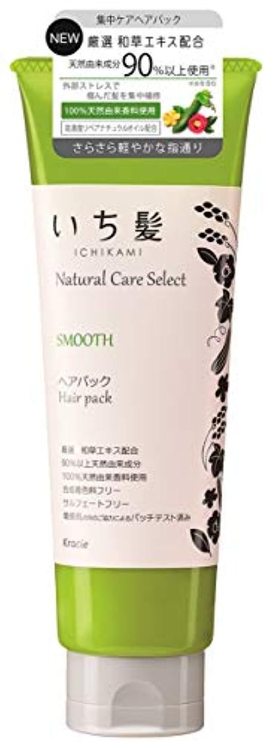 反論者偏心断線いち髪ナチュラルケアセレクト スムース(さらさら軽やかな指通り)ヘアパック180g ハーバルグリーンの香り
