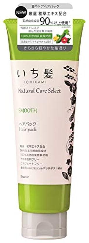 おいしいドナー侵入いち髪ナチュラルケアセレクト スムース(さらさら軽やかな指通り)ヘアパック180g ハーバルグリーンの香り