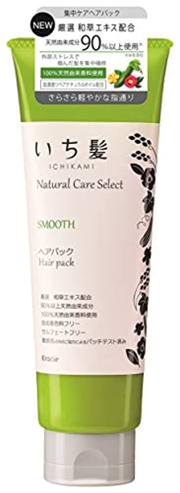 敵対的召喚するコットンいち髪ナチュラルケアセレクト スムース(さらさら軽やかな指通り)ヘアパック180g ハーバルグリーンの香り