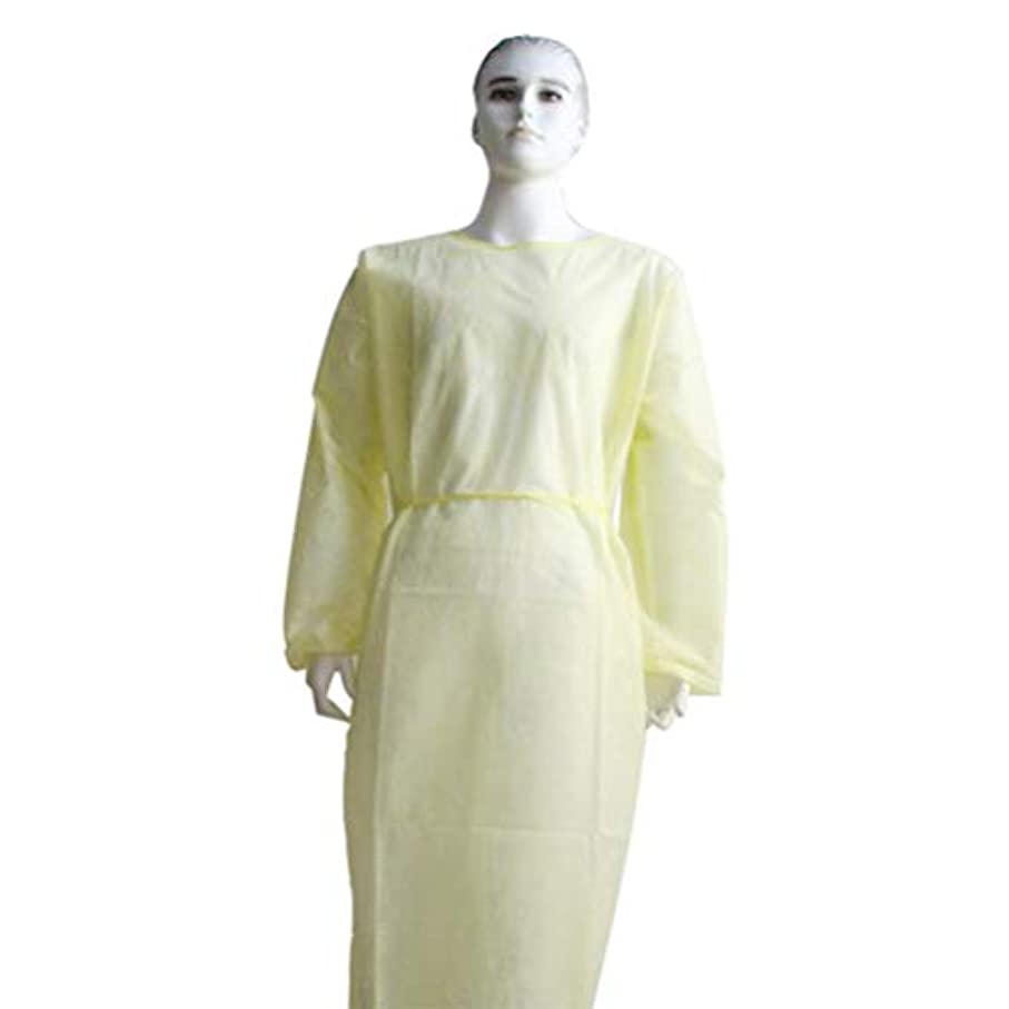 鳴り響く構成するお尻Exceart 6Pcs使い捨て保護オーバーオール帯電防止防水防曇フード付きオーバーオール労働スーツ黄色