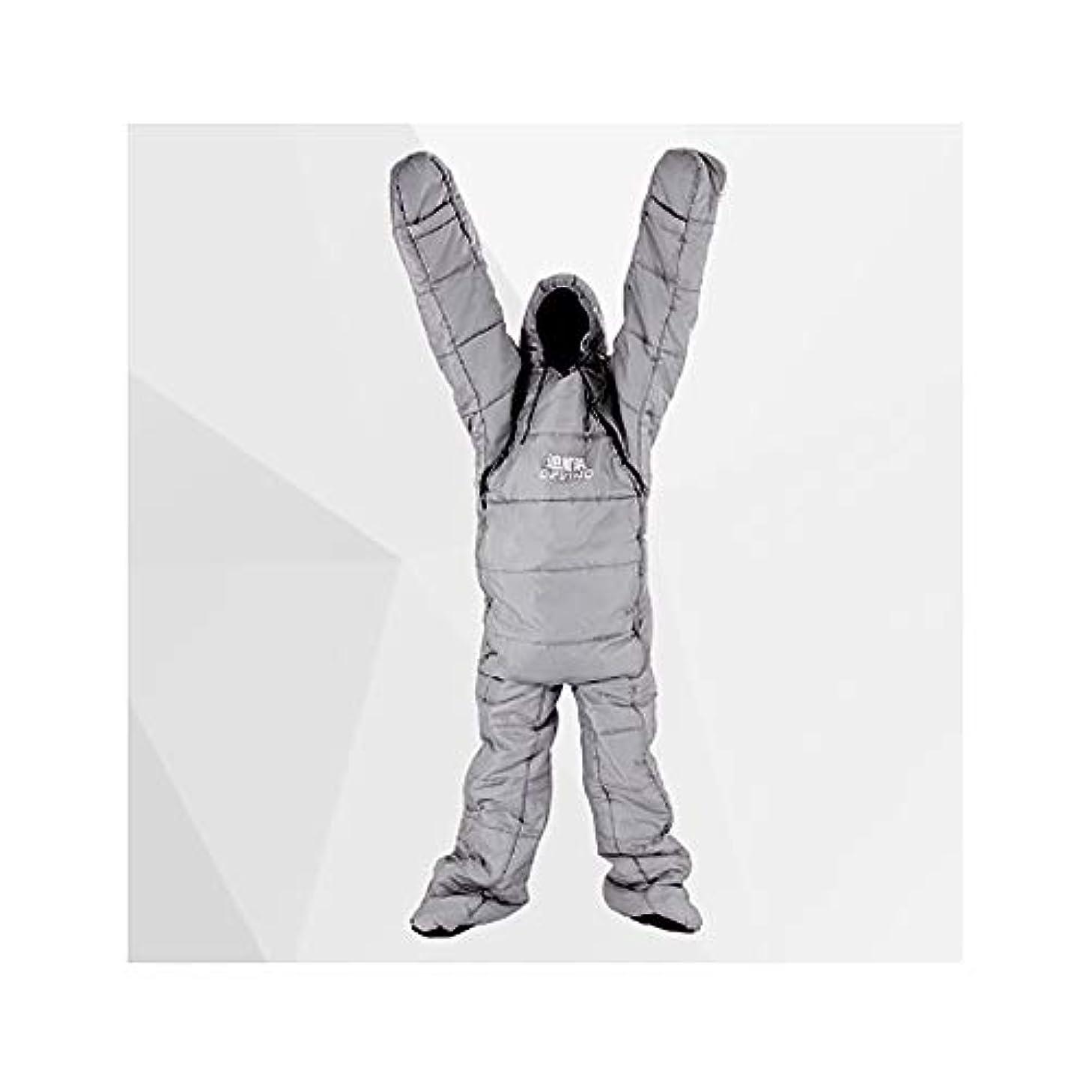 投票大学院時々丈夫です通気性寝袋ウェアラブル ホロウ コットン 冬 シングル 厚い 寝台 軽量 ポータブル アウトドア アクティビティ 暖かい 寝袋