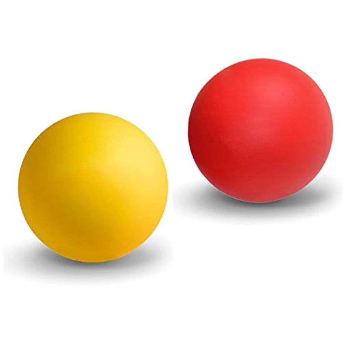 物理調子受粉するマッサージボール ストレッチボール トリガーポイント ラクロスボール 筋膜リリース トレーニング 指圧ボールマッスルマッサージボール 背中 肩こり 腰 ふくらはぎ 足裏 ツボ押しグッズ 2で1組み合わせ 2個 セット