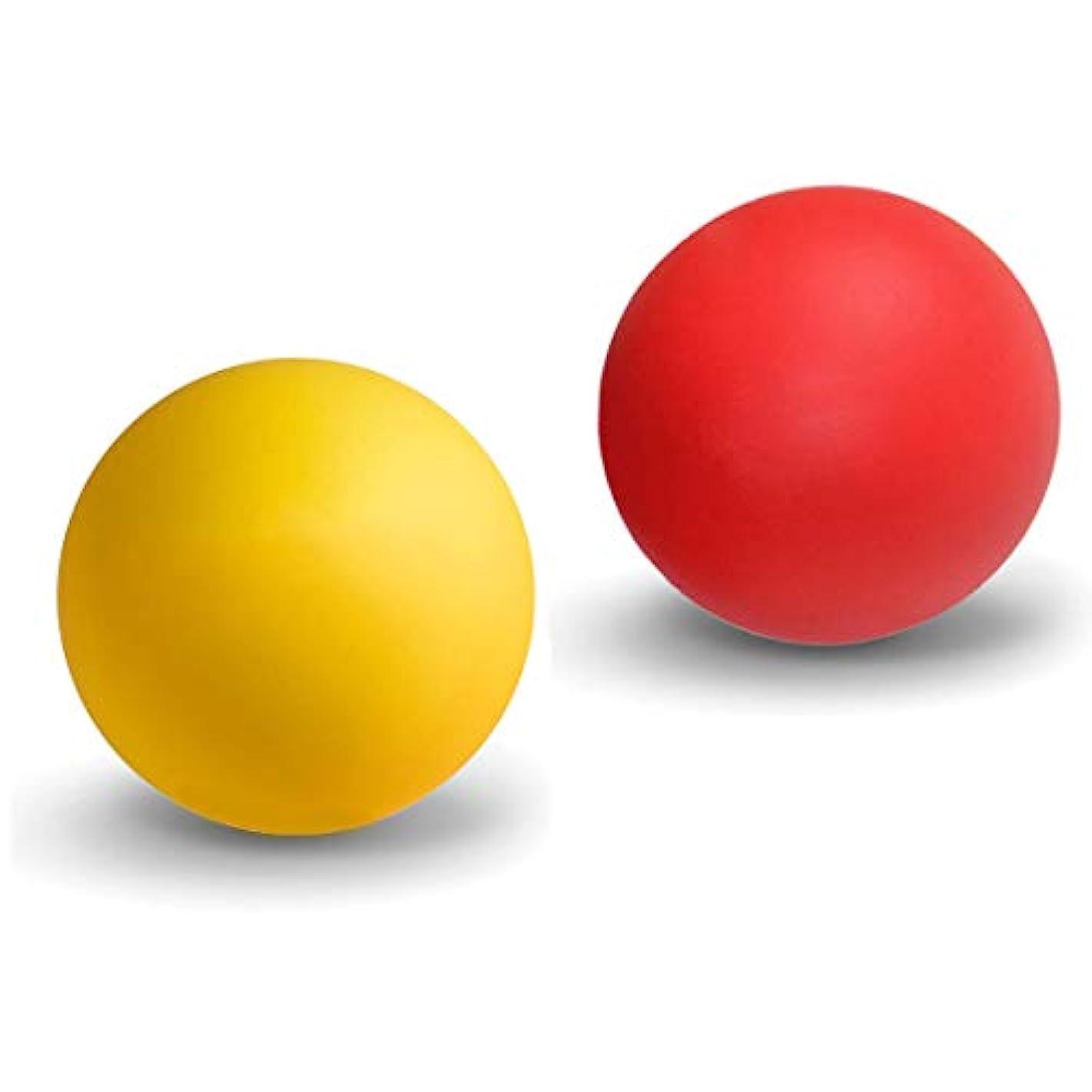 保持する完全に乾く忍耐マッサージボール ストレッチボール トリガーポイント ラクロスボール 筋膜リリース トレーニング 指圧ボールマッスルマッサージボール 背中 肩こり 腰 ふくらはぎ 足裏 ツボ押しグッズ 2で1組み合わせ 2個 セット