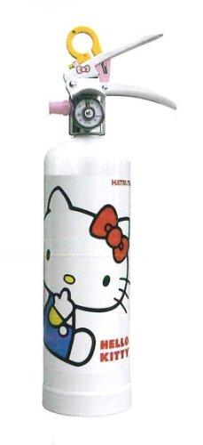【蓄圧式】女性にうれしい住宅用強化液消火器 ハツタ ハローキティ消火器 HK1-WF ※リサイクルシール付