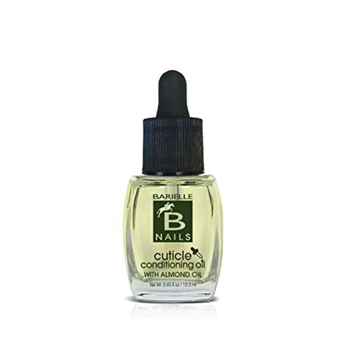 透けて見える犠牲推進力Barielle Nails - Cuticle Conditioning Oil with Almond Oil w/ Dropper - 13.3 mL / 0.45 oz