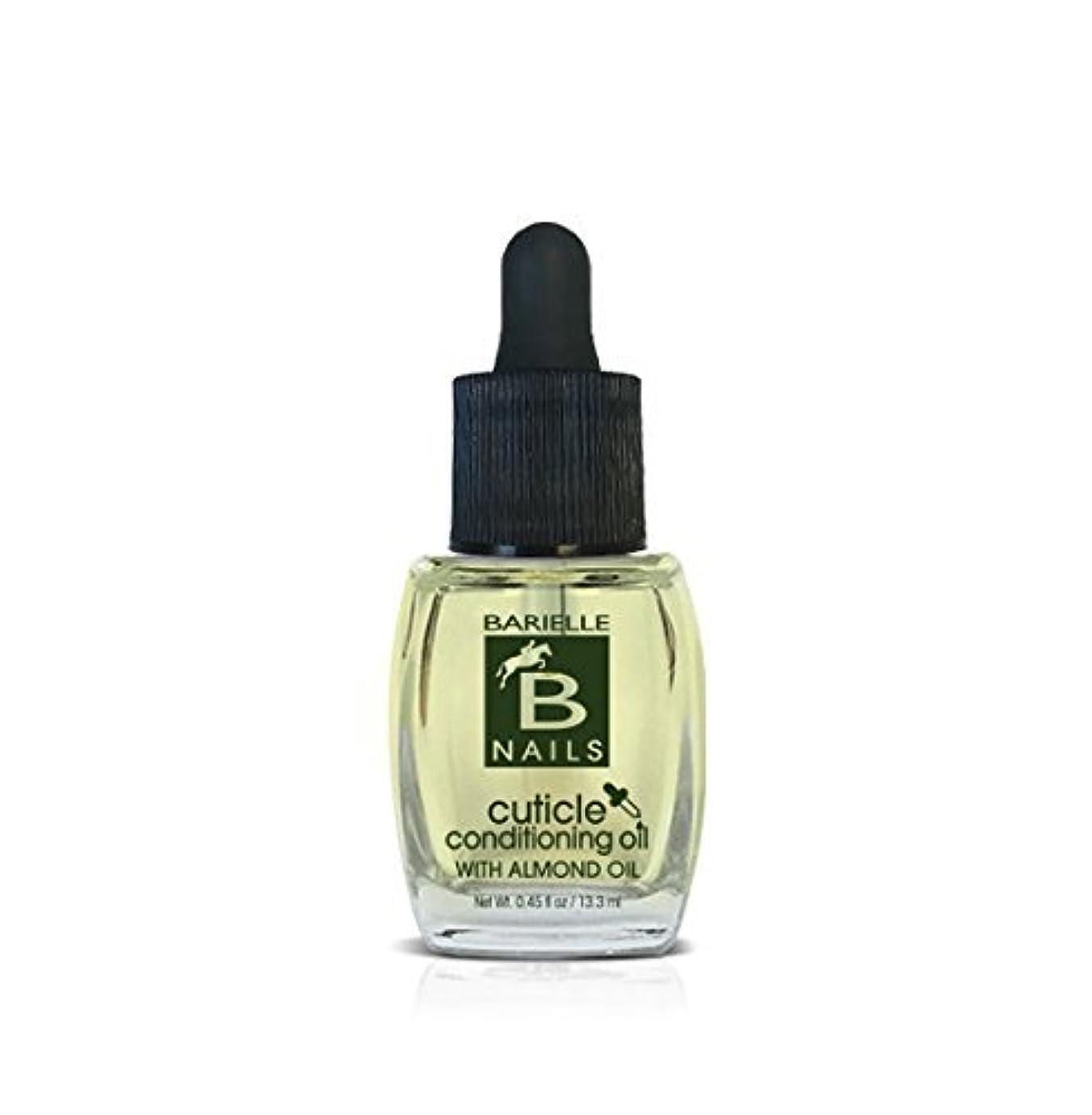 凶暴なポスター準備ができてBarielle Nails - Cuticle Conditioning Oil with Almond Oil w/ Dropper - 13.3 mL / 0.45 oz
