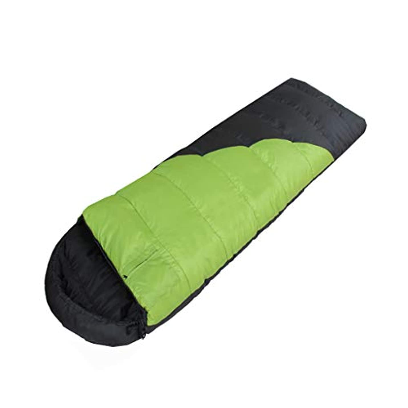 サラダバーマド失態LCSHAN 寝袋ポリエステルポリエステルアダルト屋外ウォーム多目的キャンプ防水 (色 : Green)