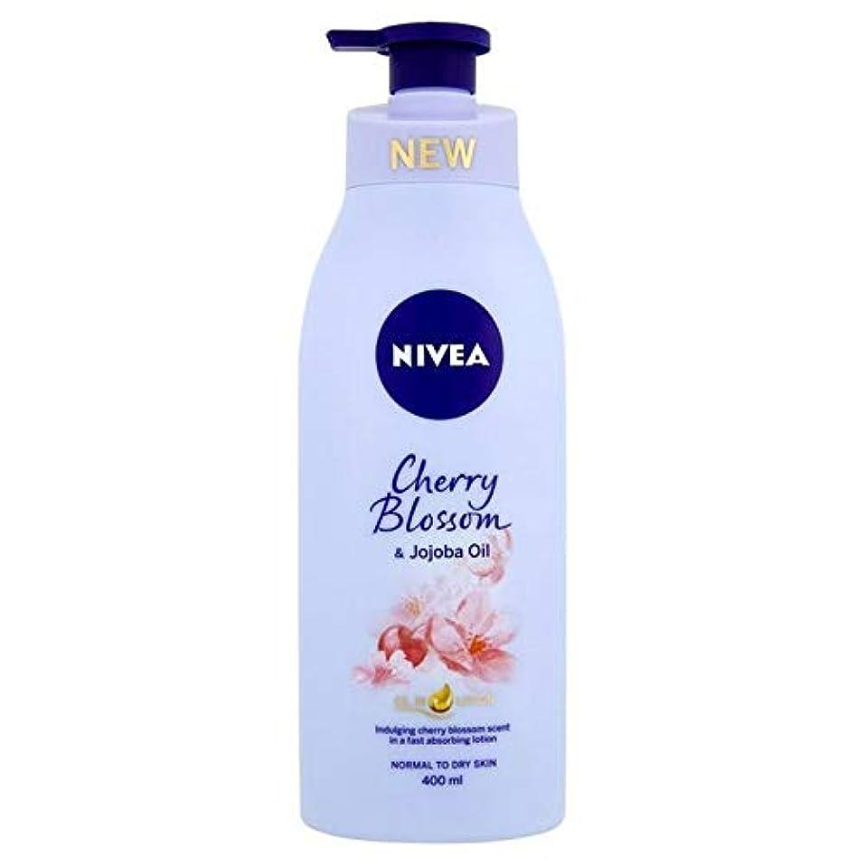 メーカーアルプス慣性[Nivea ] ニベア桜&ホホバオイルボディローション400ミリリットル - Nivea Cherry Blossom & Jojoba Oil Body Lotion 400ml [並行輸入品]