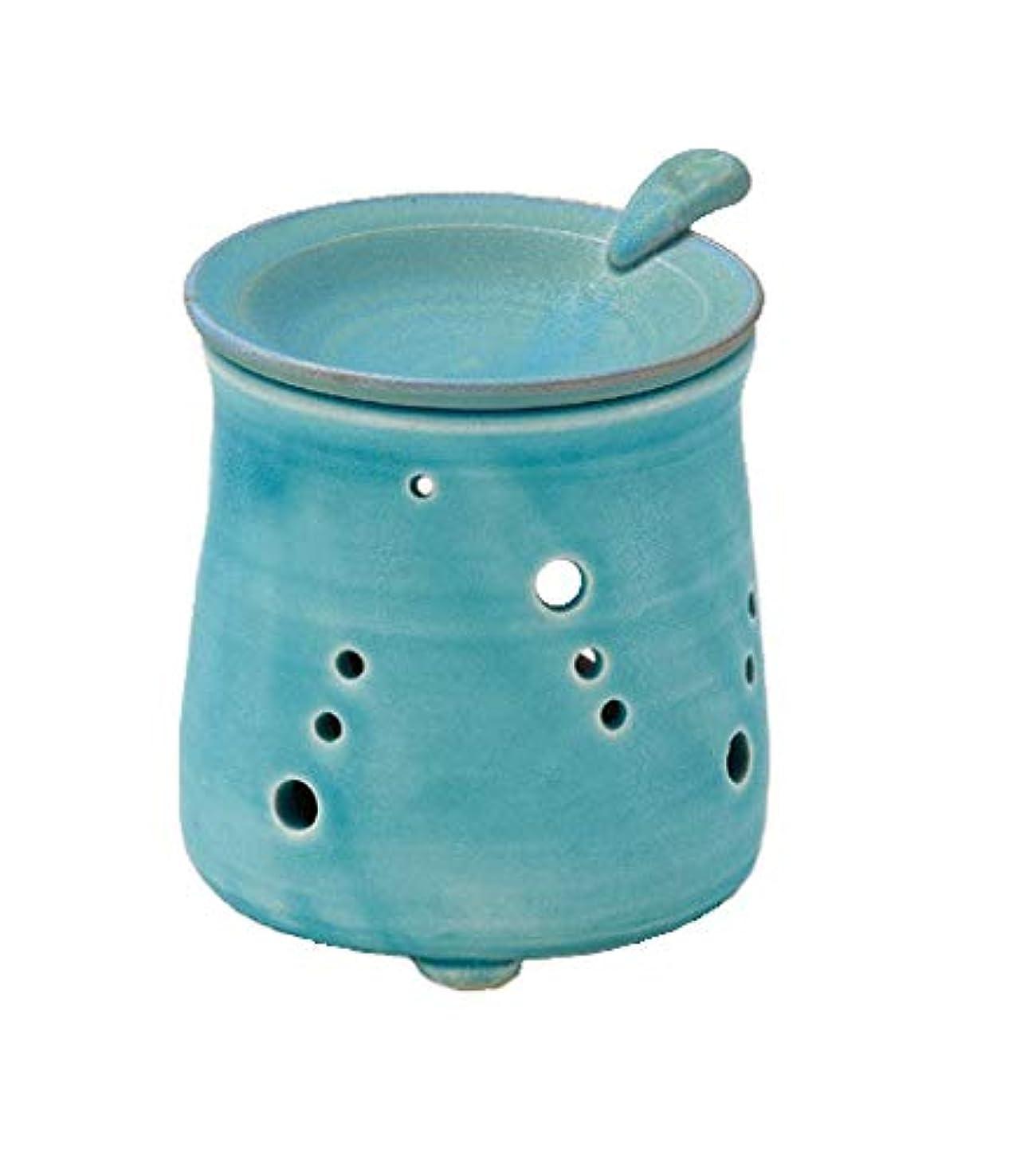 吐き出すネックレスウルルヤマキイカイ 置物 ブルー 径9.5cm 山田トルコブルー 茶香炉 L1616