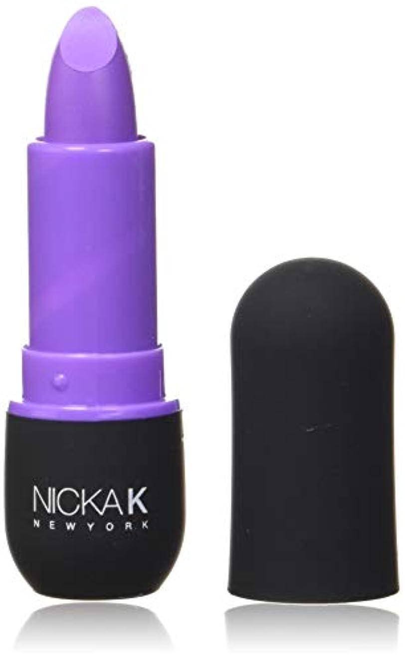 書く音声学男らしいNICKA K Vivid Matte Lipstick - NMS18 Violet (並行輸入品)