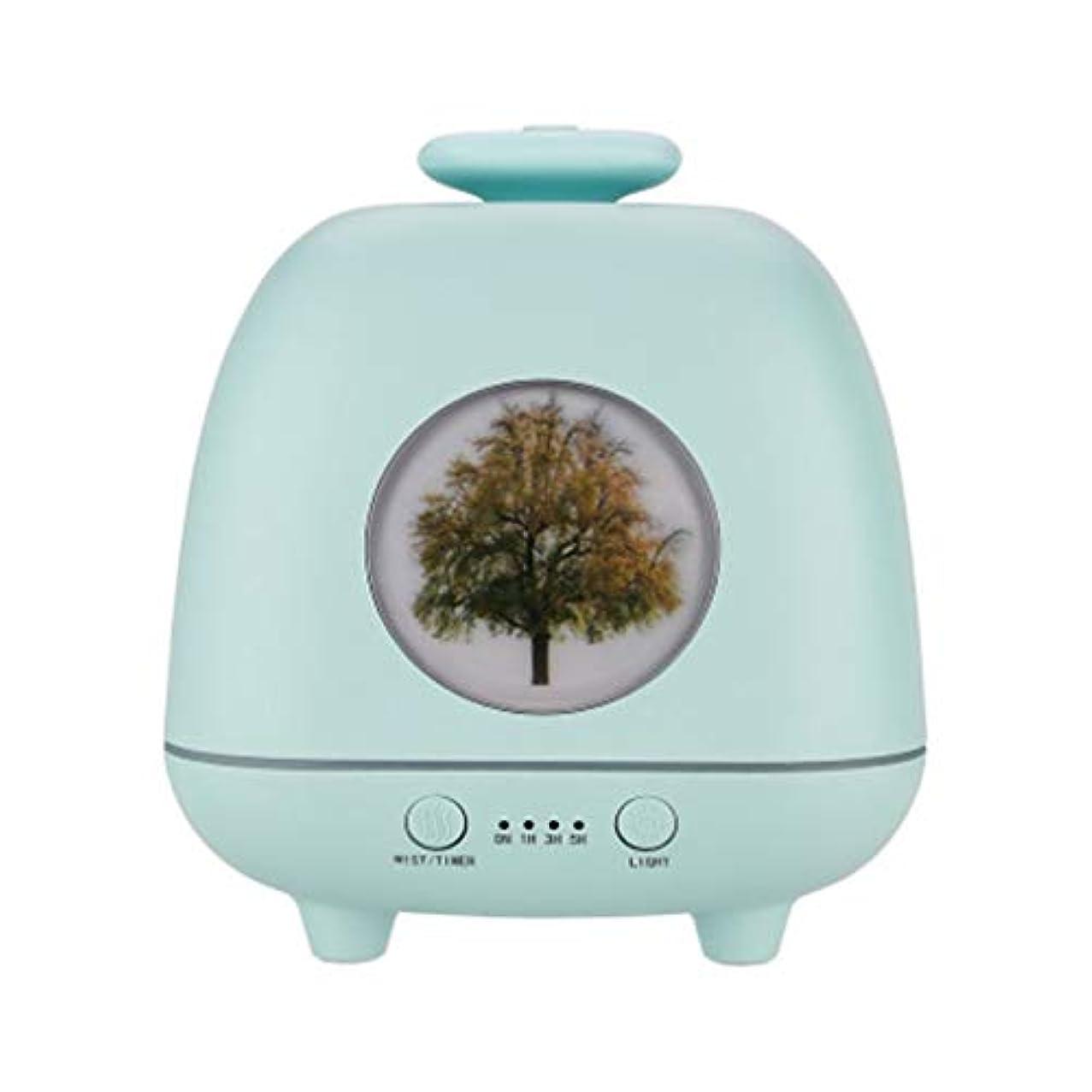 小川情報コンテスト超音波ホームデスクトップクリエイティブ雰囲気ナイトライト加湿器寝室の赤ちゃん女性の家の装飾 (Color : Green)