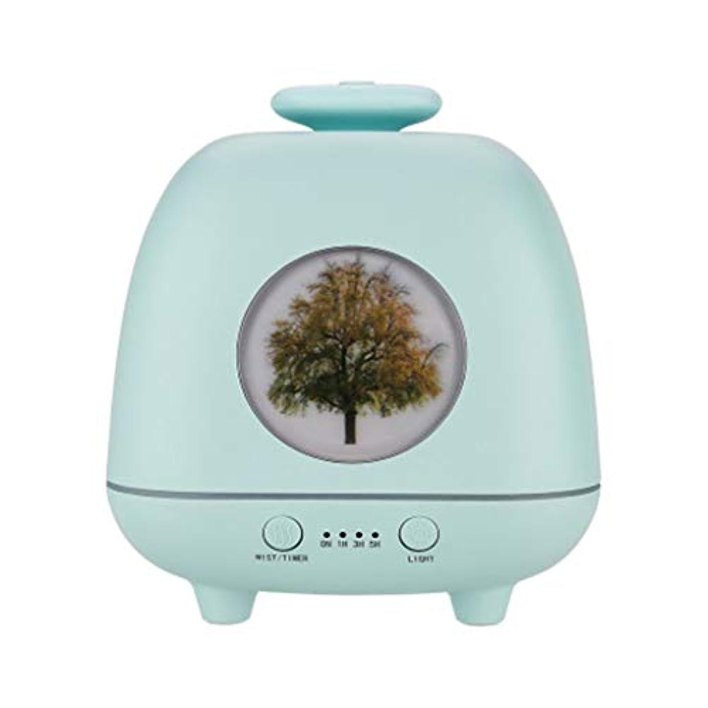 キャンセル干し草素子超音波ホームデスクトップクリエイティブ雰囲気ナイトライト加湿器寝室の赤ちゃん女性の家の装飾 (Color : Green)