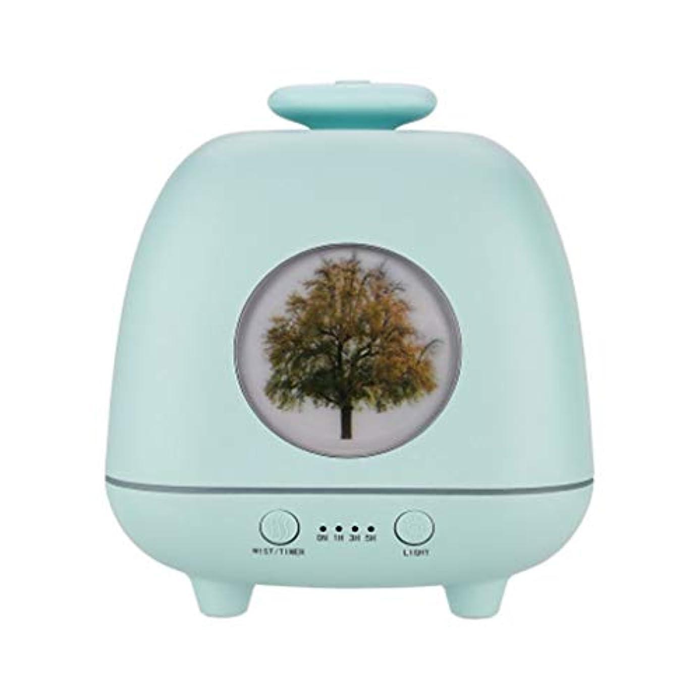 器用効率降ろす超音波ホームデスクトップクリエイティブ雰囲気ナイトライト加湿器寝室の赤ちゃん女性の家の装飾 (Color : Green)