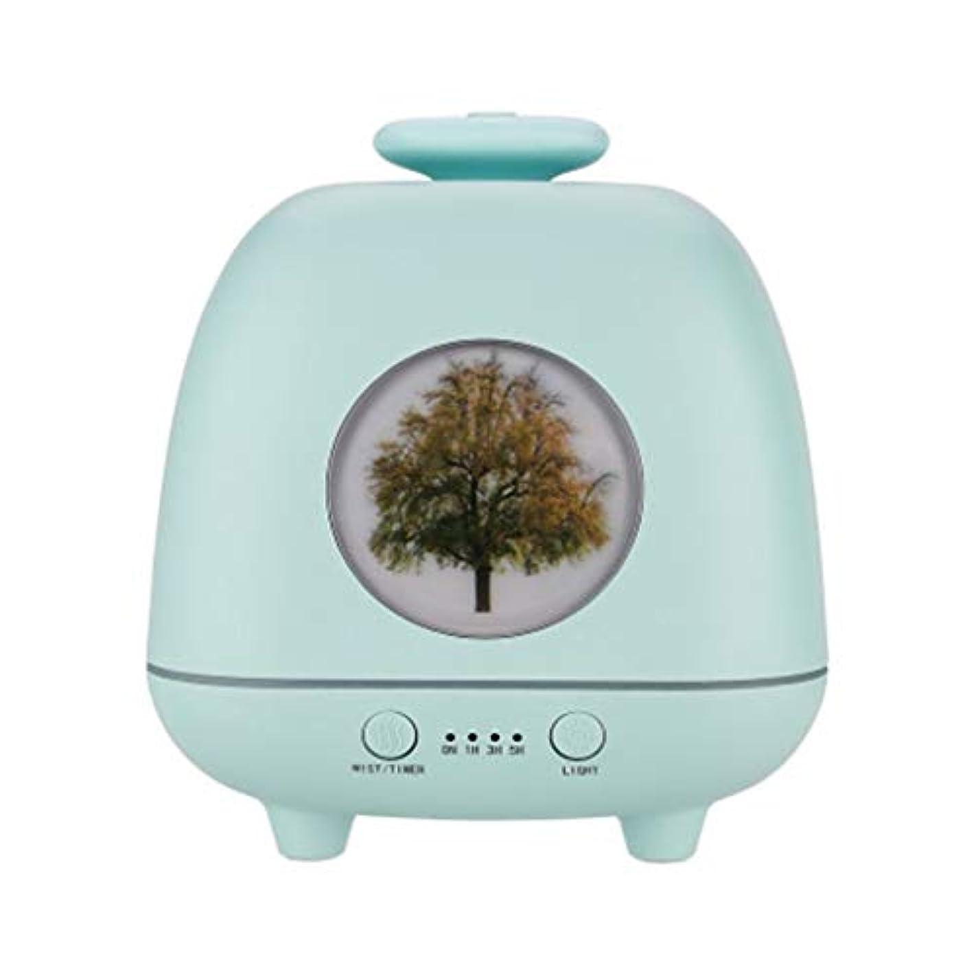 症候群警告桁超音波ホームデスクトップクリエイティブ雰囲気ナイトライト加湿器寝室の赤ちゃん女性の家の装飾 (Color : Green)