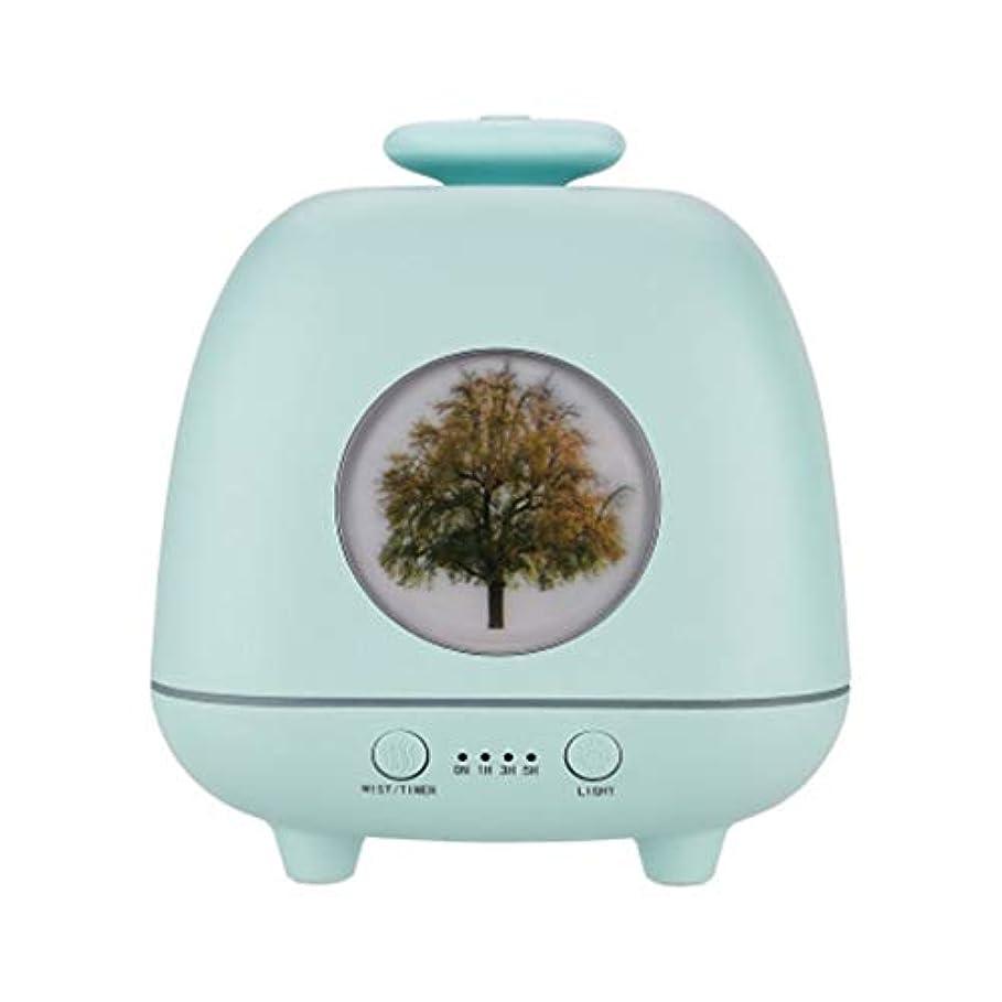 ええたっぷり批評超音波ホームデスクトップクリエイティブ雰囲気ナイトライト加湿器寝室の赤ちゃん女性の家の装飾 (Color : Green)