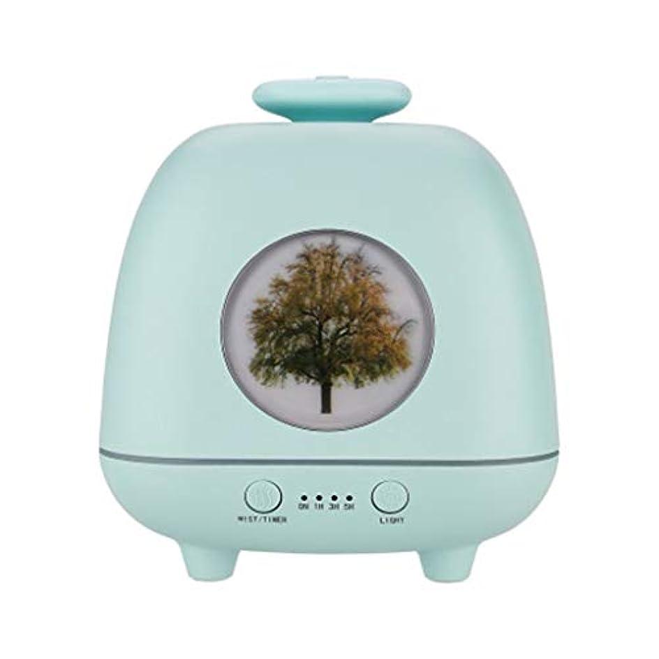 協力的恒久的にぎやか超音波ホームデスクトップクリエイティブ雰囲気ナイトライト加湿器寝室の赤ちゃん女性の家の装飾 (Color : Green)