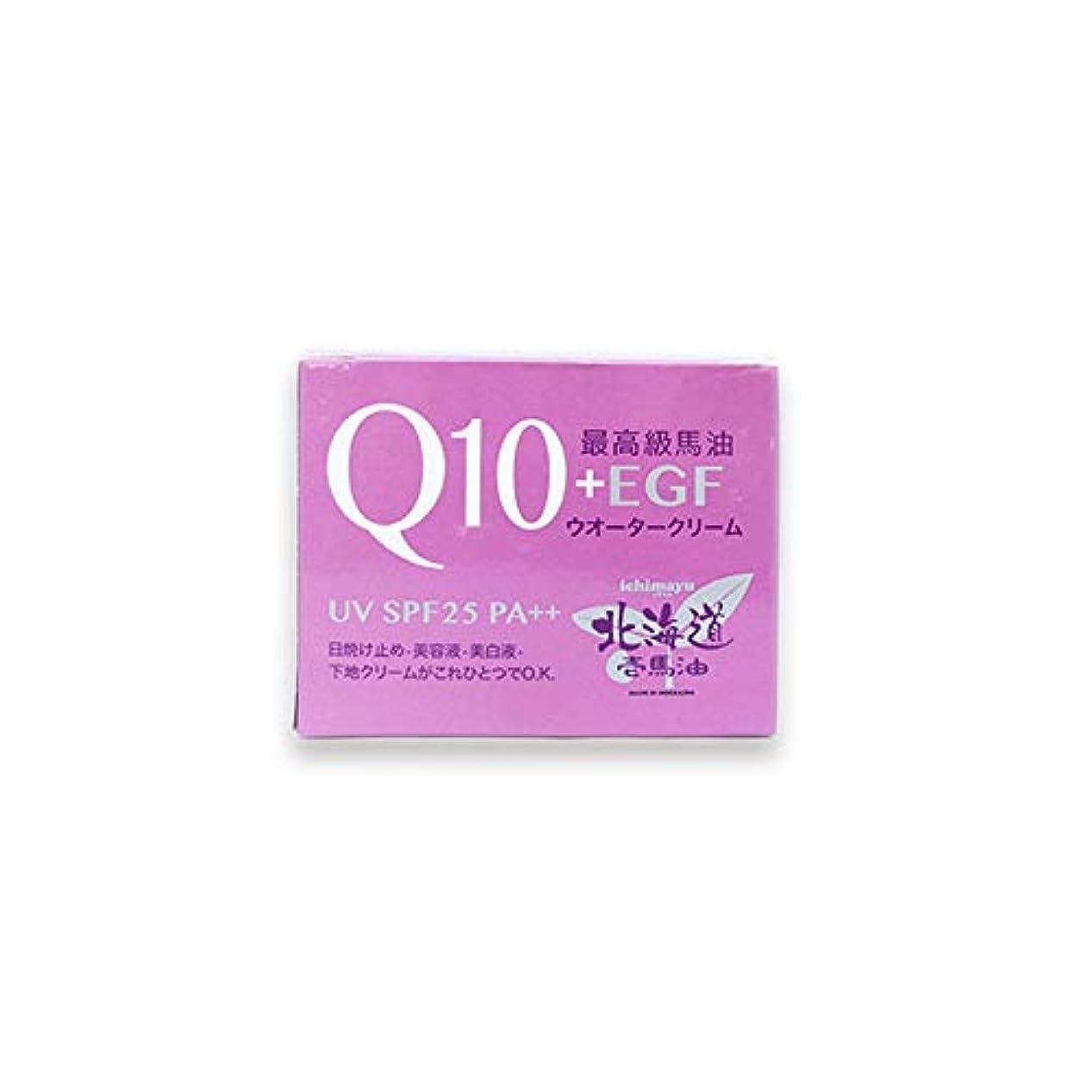 初心者立法利益北海道壱馬油Q10+EGFウオータークリームUV SPF25 PA++80g