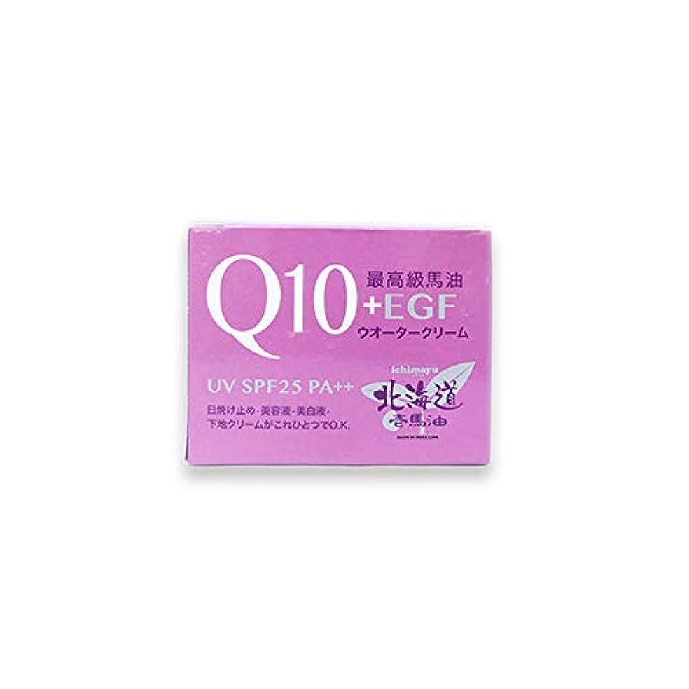 キラウエア山本質的ではない伝統的北海道壱馬油Q10+EGFウオータークリームUV SPF25 PA++80g