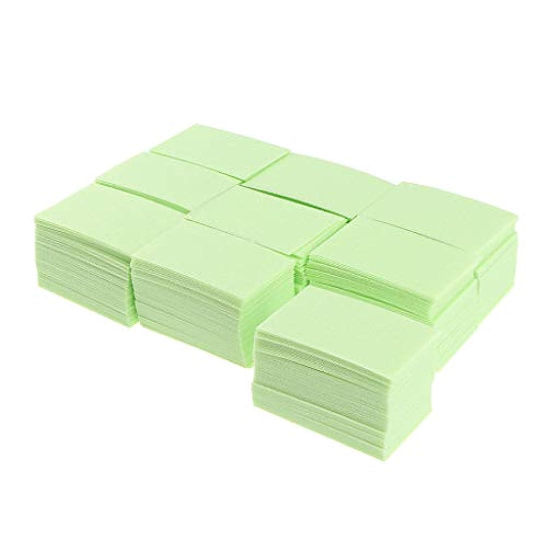 偶然の永続ピービッシュB Blesiya 約700枚 ネイルポリッシュリムーバー 綿パッド ネイルアート マニキュア 2色選べ - 緑