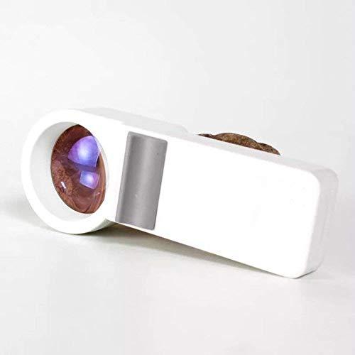 『8倍ハンドヘルド照明付き拡大鏡非球面レンズledホワイトライトレンズHd読書趣味ジュエリーマップ工芸品ジュエリー拡大鏡』の4枚目の画像