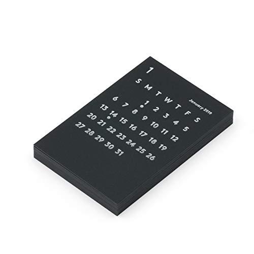 JACKAL クララ 2019年 ブラック リフィル 卓上カレンダー