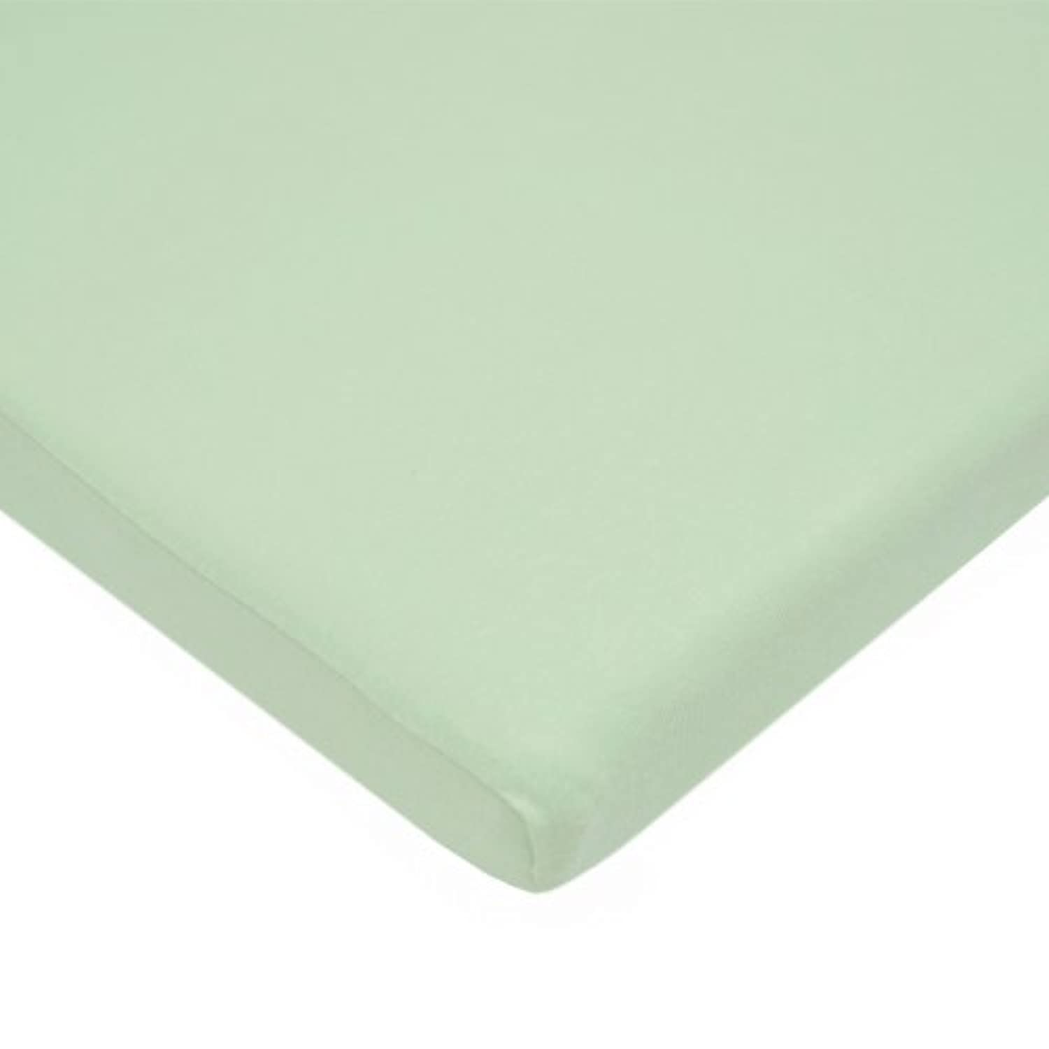 TL Care 100% Cotton Value Jersey Knit Fitted Bassinet Sheet, Celery by TL Care