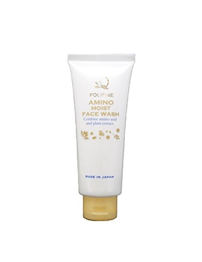 トライアスロン危険を冒します洗うポリファイン アミノ酸洗顔 濃密泡&素肌しっとり  POLIFINE AMINO MOIST FACE WASH