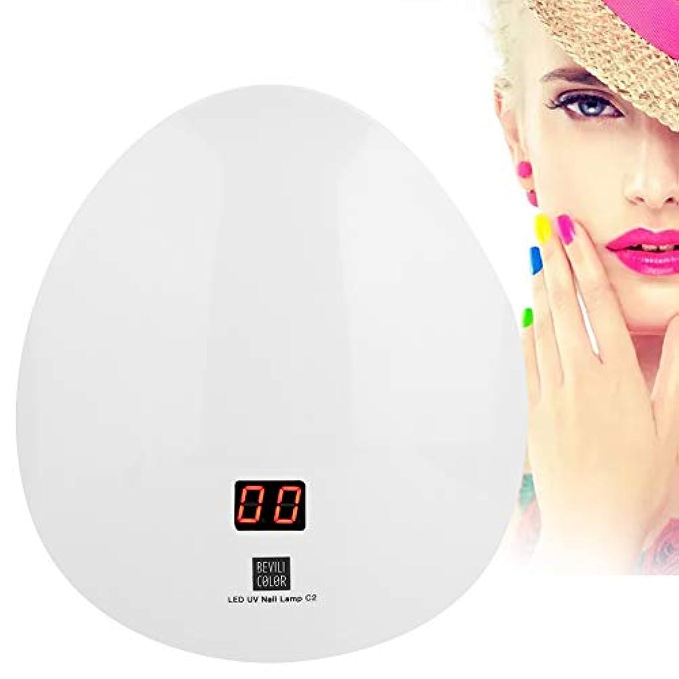 食品マージ多年生UVネイルドライヤー、45WインテリジェントLED UVジェルネイルポリッシュドライヤーランプファッションネイル硬化機マニキュアライトツール