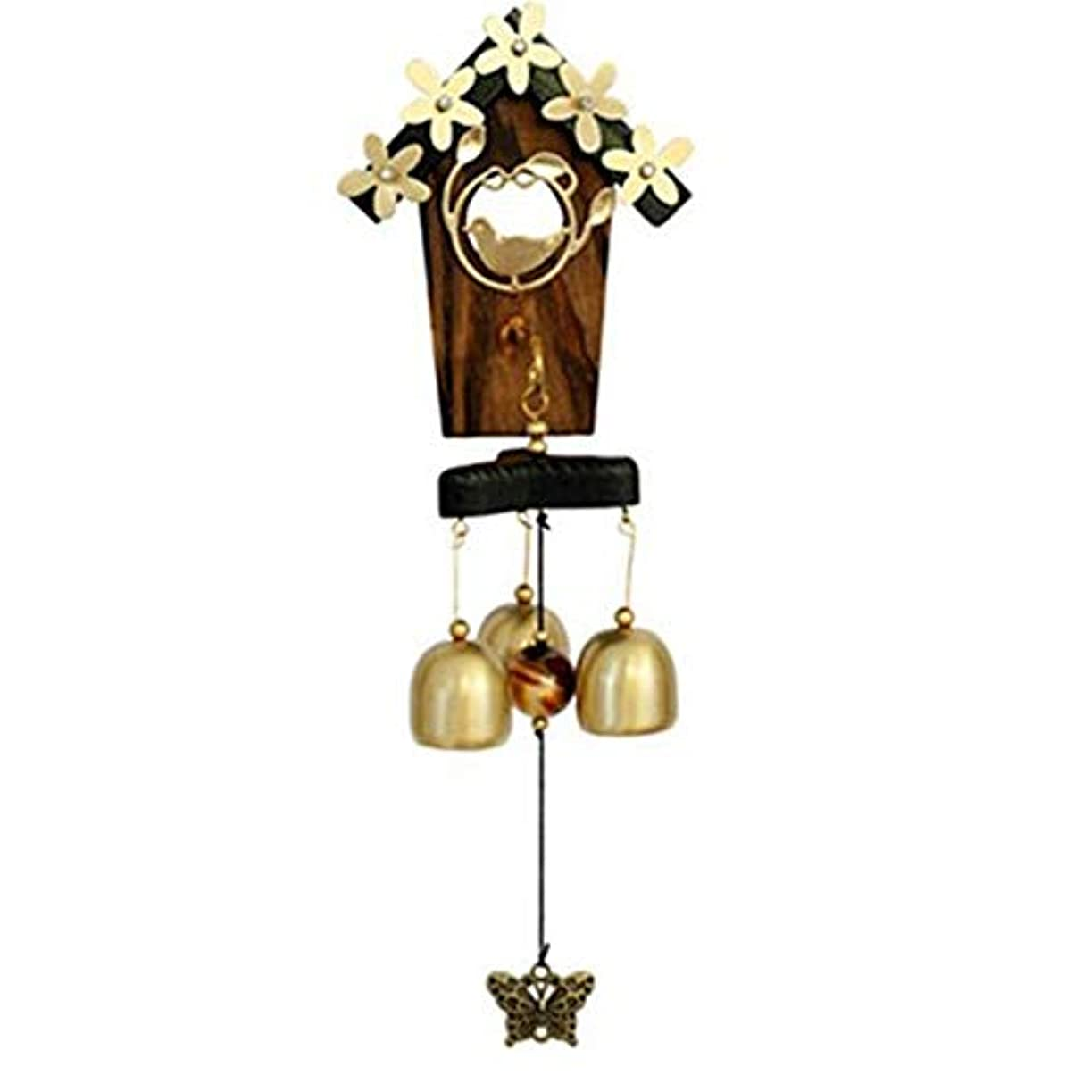 どこにも土一晩Jielongtongxun 風チャイム、メタルホームデコレーション風チャイム、ゴールド、サイズ35CM,絶妙な飾り