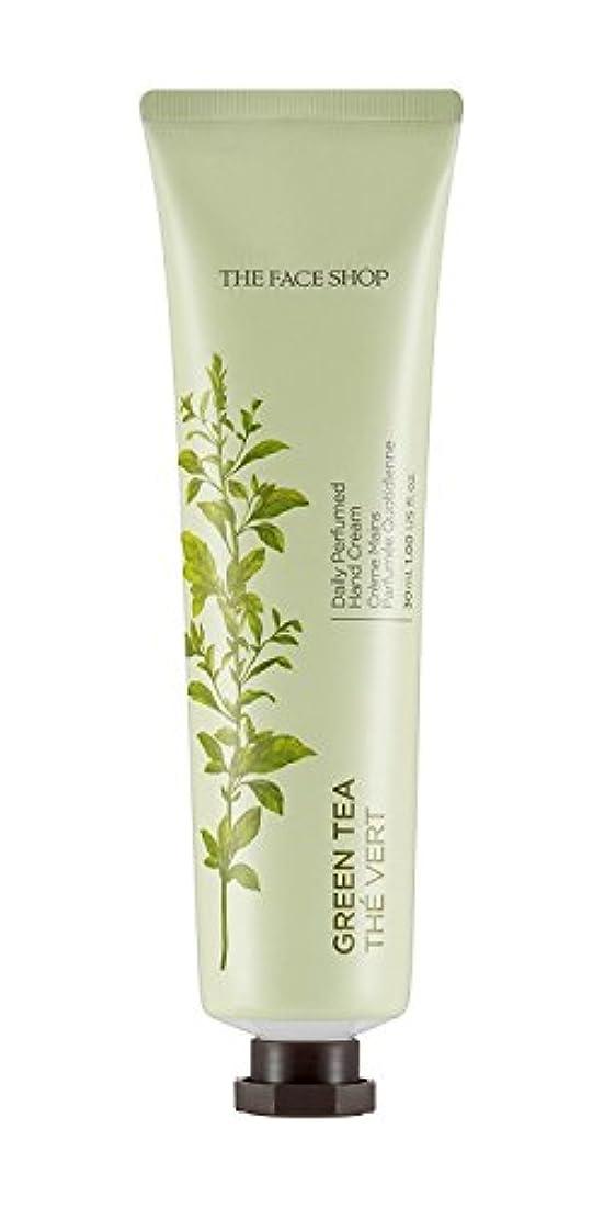 可塑性今後不和THE FACE SHOP Daily Perfume Hand Cream [05. Green tea] ザフェイスショップ デイリーパフュームハンドクリーム [05.グリーンティー] [new] [並行輸入品]