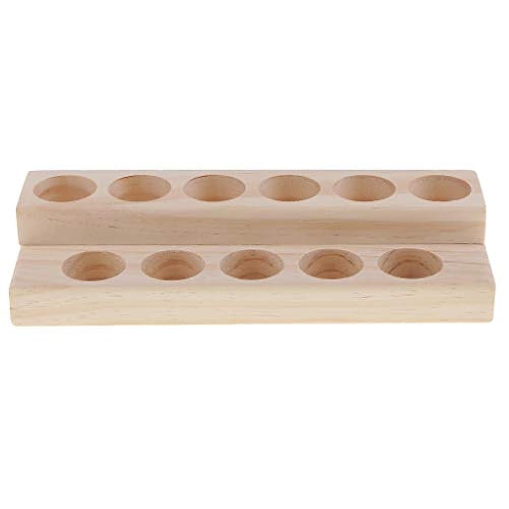 これまでモーションハンカチ木製 エッセンシャルオイル 展示ラック 精油 オルガナイザー 陳列台 アクセサリー 2層