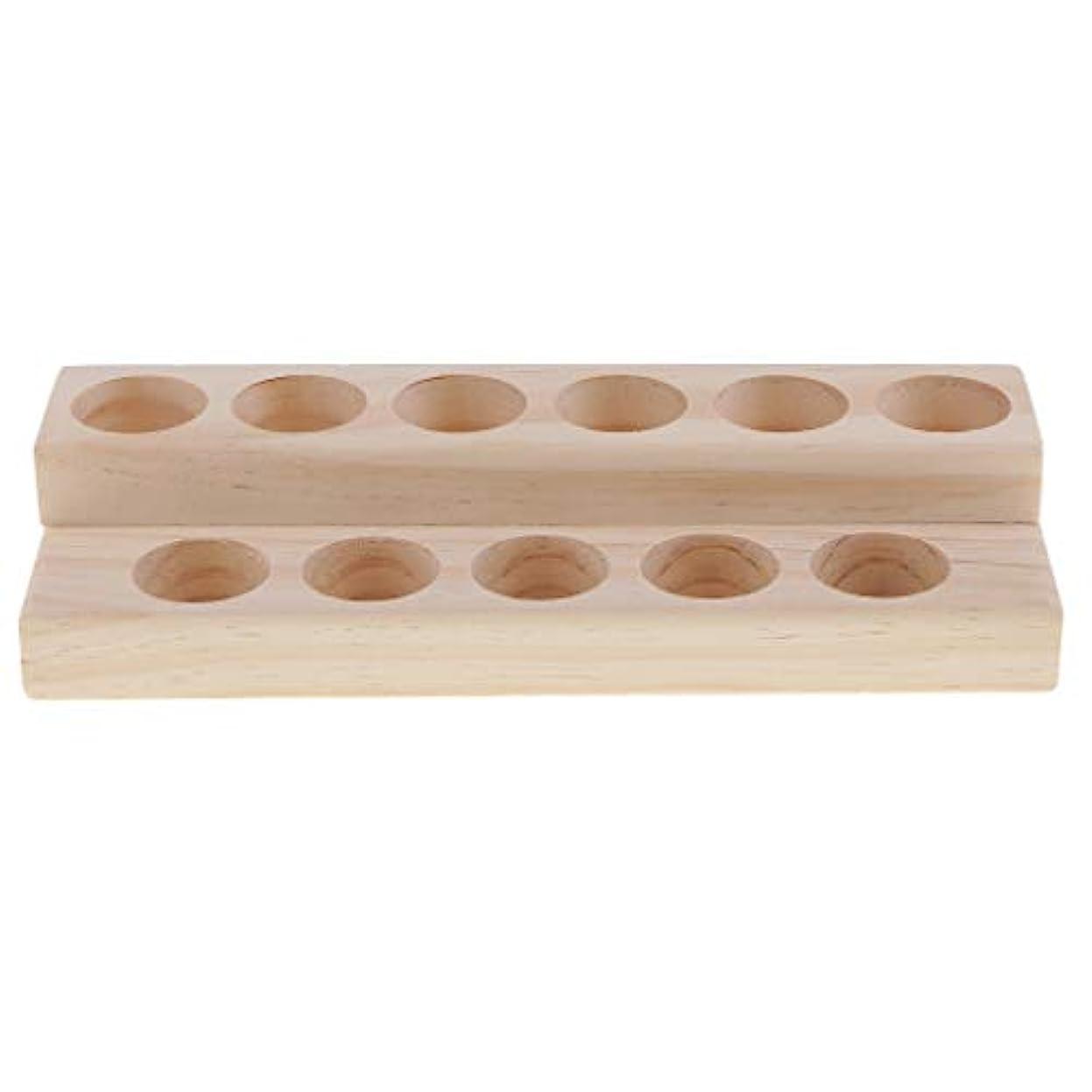 メトリック影食事木製 エッセンシャルオイル 展示ラック 精油 オルガナイザー 陳列台 アクセサリー 2層