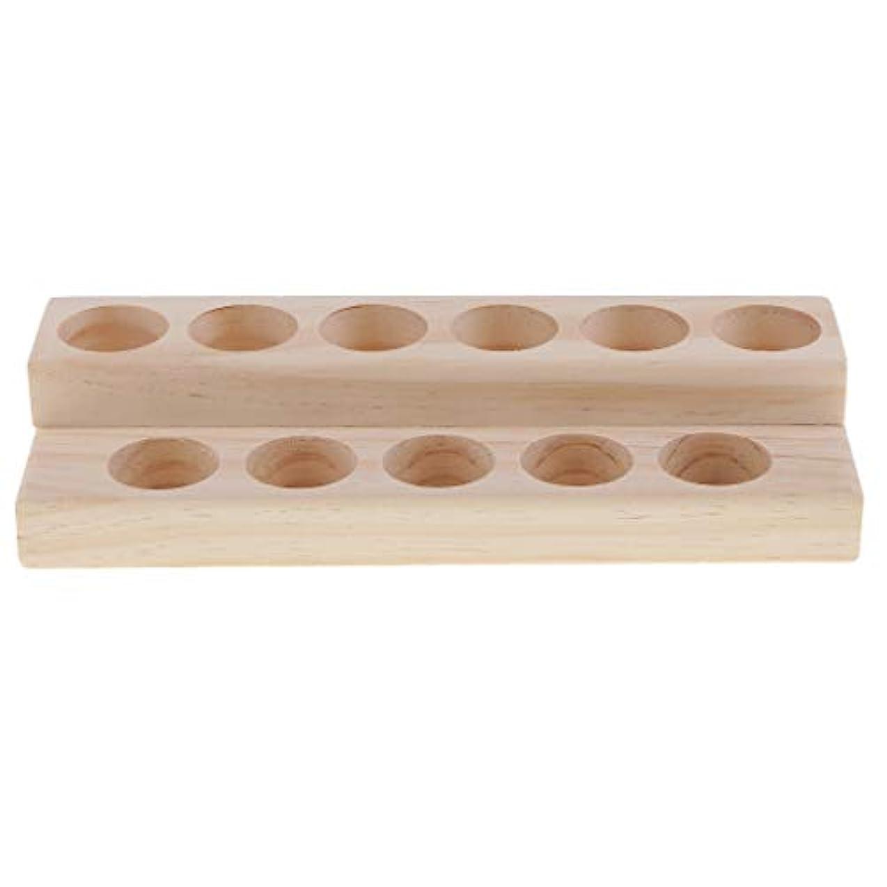 連続的のどリファイン木製 エッセンシャルオイル 展示ラック 精油 オルガナイザー 陳列台 アクセサリー 2層