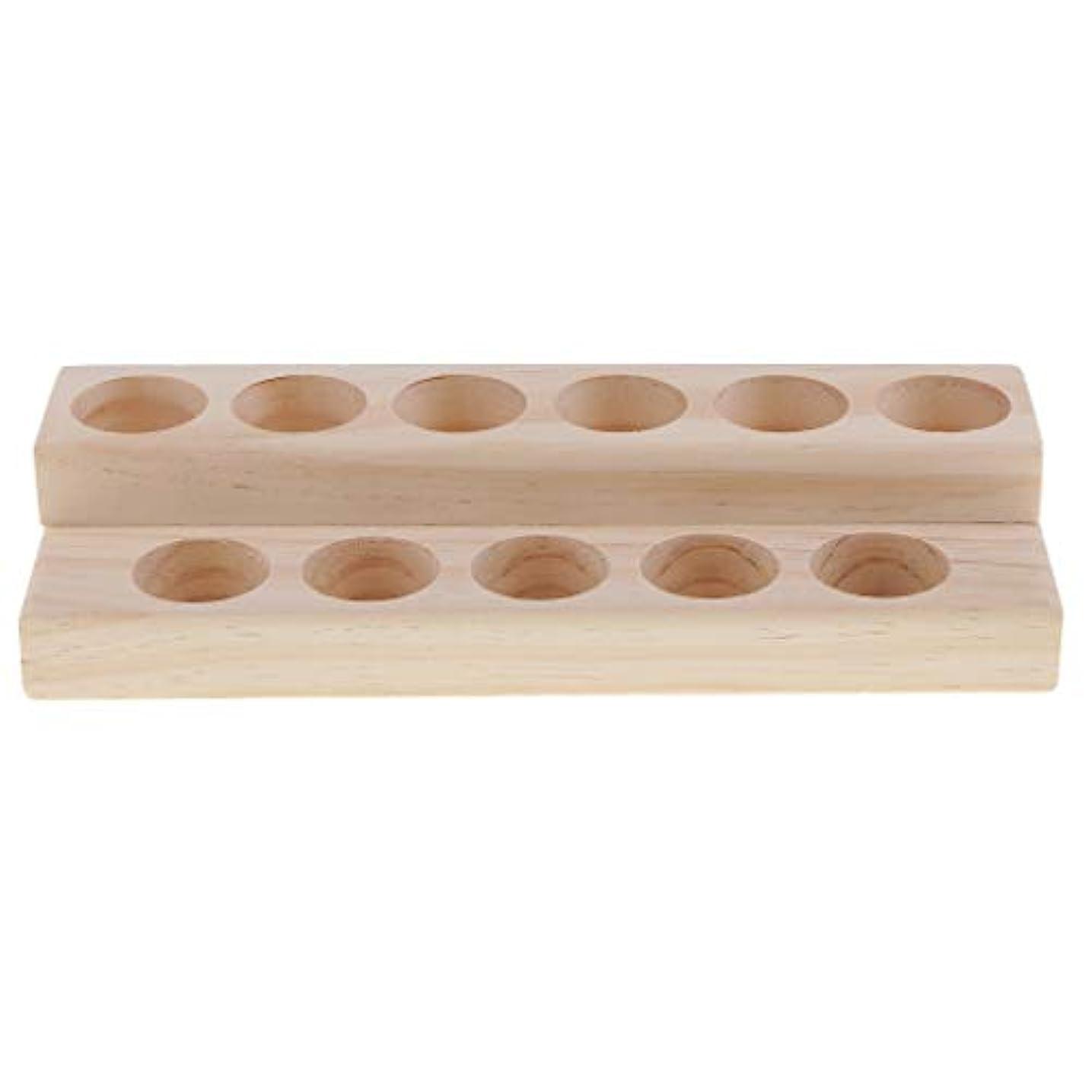 抽選に向けて出発戻すD DOLITY 木製 エッセンシャルオイル 展示ラック 精油 オルガナイザー 陳列台 アクセサリー 2層