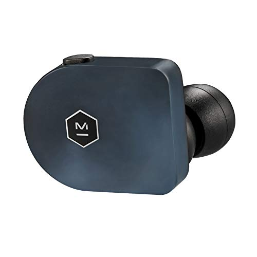 Master & Dynamic(マスター&ダイナミック) 完全ワイヤレスイヤホン MW07 Bluetooth4.2 NFMI接続 IPX4 防滴仕様 AAC, Apt-X対応 連続再生約3.5時間 最大14時間再生 優れた装着感 アセテート素材 ステンレス製充電ケース スティールブルー 【国内正規品/保証期間2年】