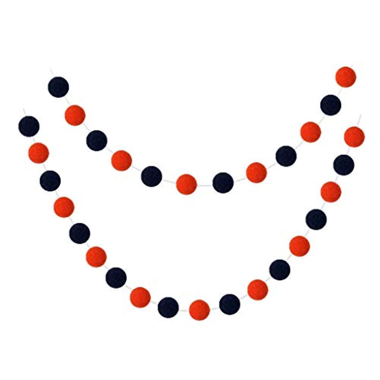 FLAMEER ボールバナー フェルトボール ガーランド 飾り ハロウィン パーティー ポンポンガーランド