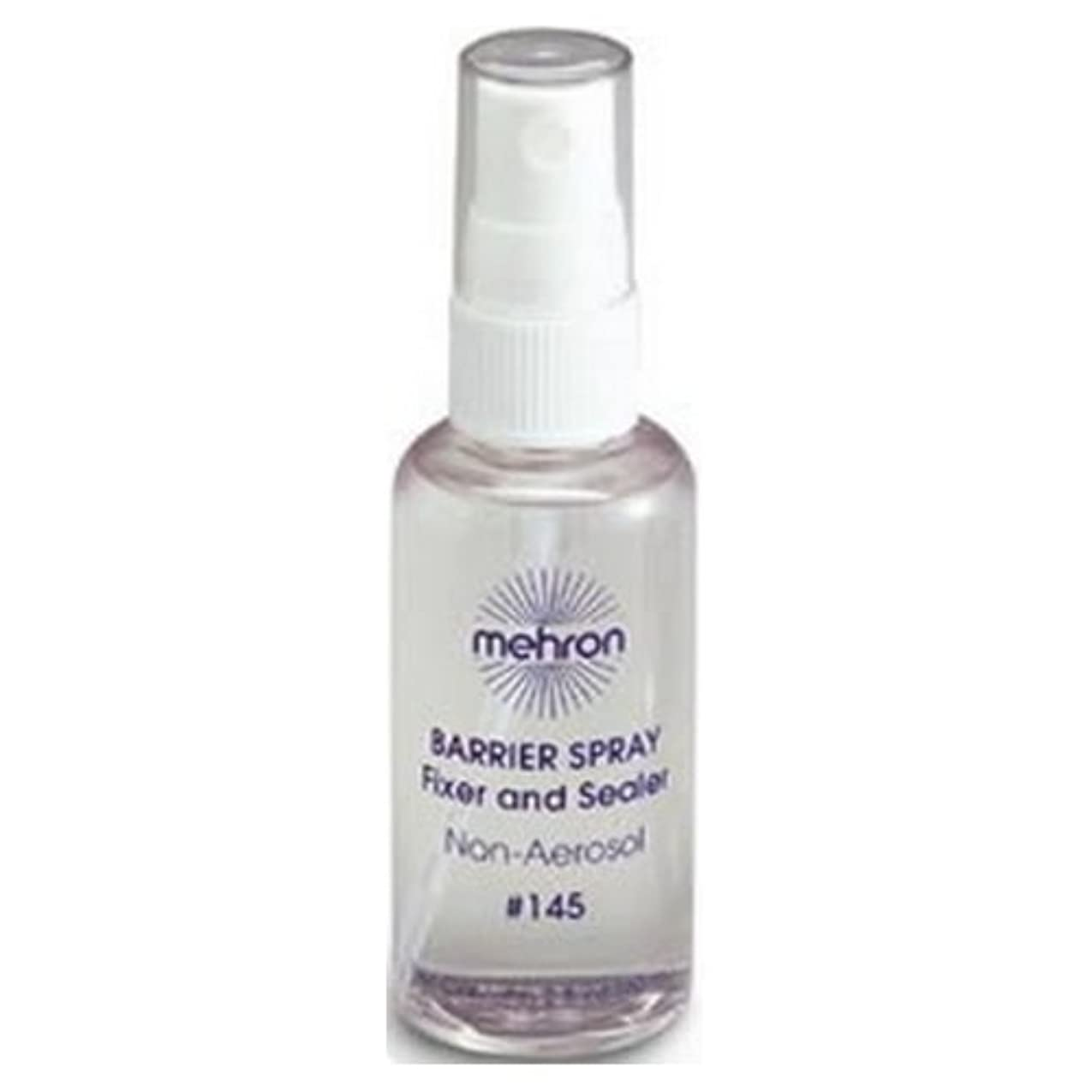 慣れる公平な要旨(6 Pack) mehron Barrier Spray Fixer and Sealer - Clear (並行輸入品)