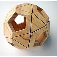 輪ゴムで作るサッカーボール型パズル