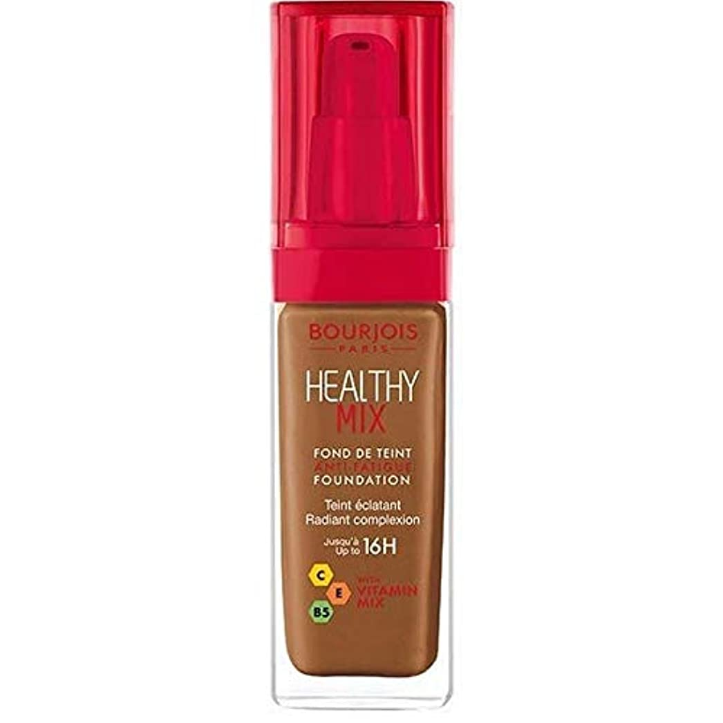 柔和窓を洗うクラック[Bourjois ] ブルジョワヘルシーミックス基盤63ココア - Bourjois Healthy Mix Foundation 63 Cocoa [並行輸入品]