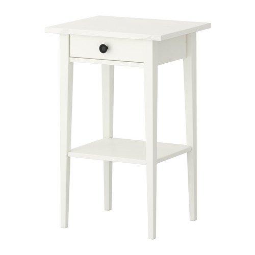 IKEA(イケア) HEMNES ホワイトステイン 00200457 ベッドサイドテーブル、ホワイトステイン