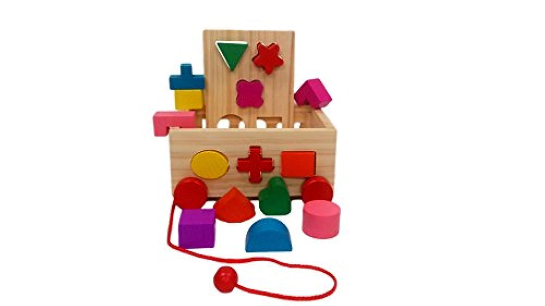 知育玩具 木製 おもちゃ 立体 パズルカー 型はめ あそび