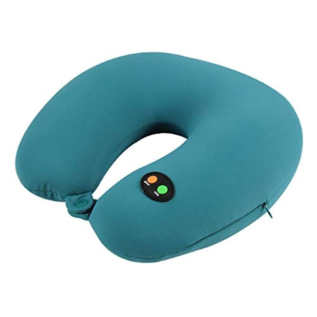 蒸留する変位旅行パーティクルマッサージU字型首枕仮眠飛行機旅行枕 JSFQ