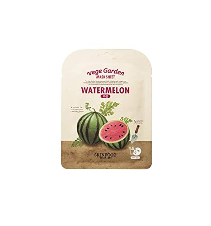 カバレッジほぼ保有者Skinfood ベジガーデンマスクシート#スイカ* 10ea / Vege Garden Mask Sheet # watermelon *10ea 20ml*10 [並行輸入品]
