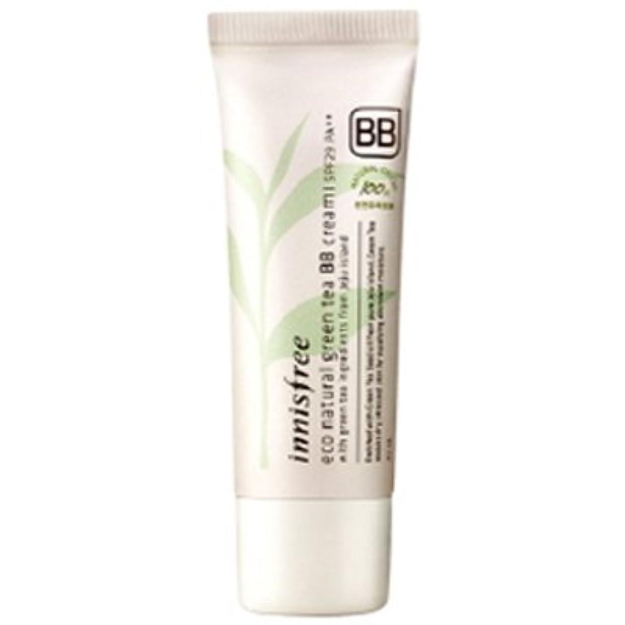 大理石白い副innisfree(イニスフリー) Eco natural green tea BB cream エコ ナチュラル グリーン ティー BB クリーム SPF29/PA++ 40ml #1:ライトベージュ